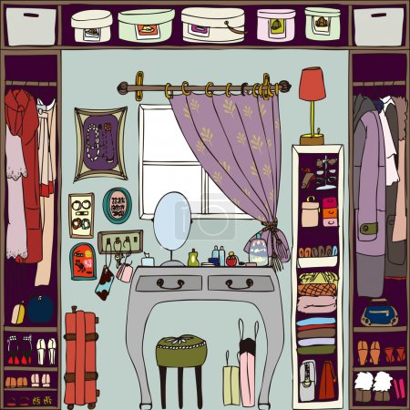 Illustration of the room.