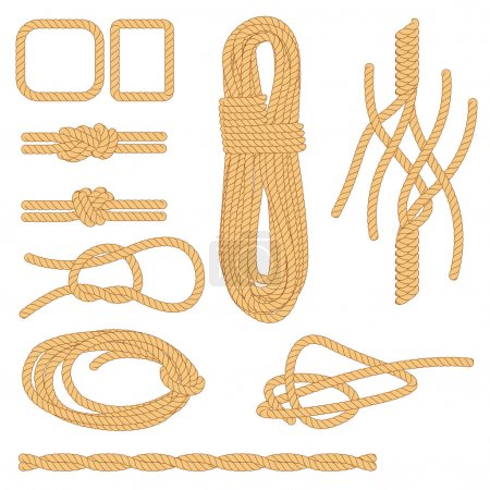 Illustration for Rope and shape - Royalty Free Image