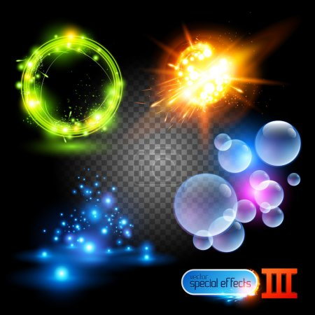 Illustration for Vector Special Effects Series 3. Each set grouped and layered. - Royalty Free Image
