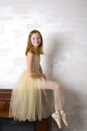 Studio portrait of an attractive young ballerina