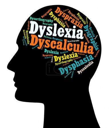 Photo pour Bien qu'il n'y a pas eu d'études pour indiquer un pourcentage précis, on estime que les troubles d'apprentissage (ld) affectent entre 5 et 10 pour cent de la population. les plus courantes sont: la dyslexie, dysgraphie, dysphasie, dyspraxie, dyscalculie et - image libre de droit
