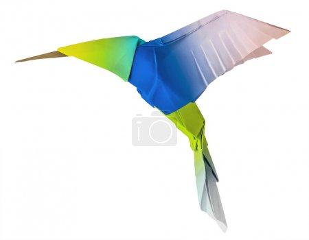 Foto de Origami colibrí colibri volador en un fondo whute - Imagen libre de derechos