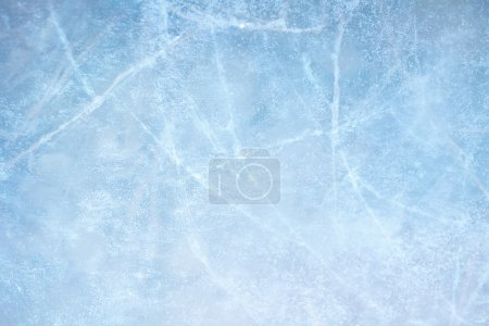 Photo for Textured ice blue frozen rink winter background - Royalty Free Image