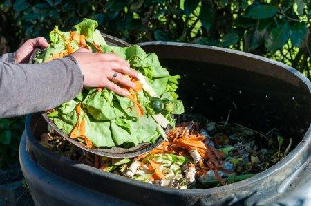 Photo pour Compostage des déchets de cuisine - image libre de droit