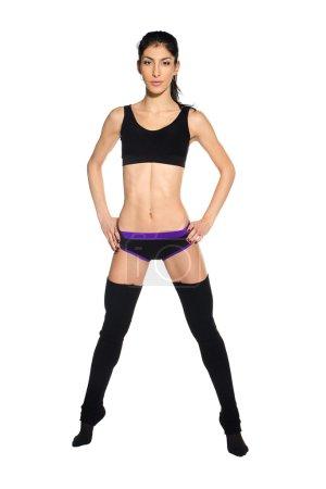 Slim sporty girl