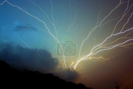 Storm lightning strikes