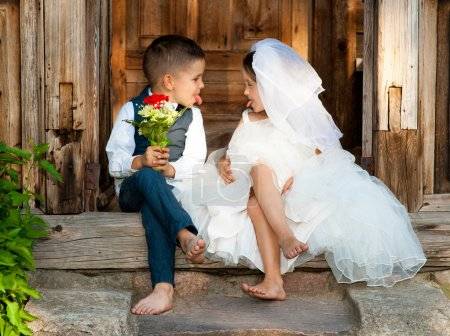 Kids Love Couple After the Wedding...
