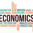 A word cloud of Economics related items...