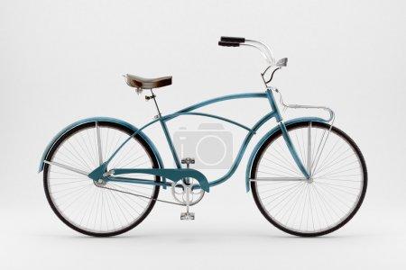 Photo pour Image de style rétro d'un vélo du XIXe siècle isolé sur un fond blanc - image libre de droit