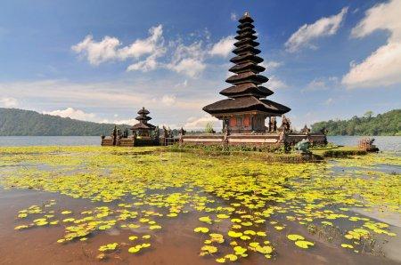 Ulun Danu temple Beratan Lake in Bali Indonesia.