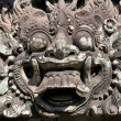 Carvings depicting demons, gods and Balinese mytho...