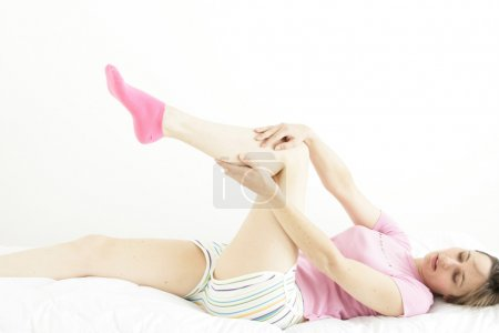 LEG PAIN IN A WOMAN