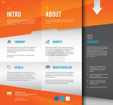 Modern and simple multipurpose graphic design layout template