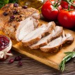 Roasted pork loin with cranberry and rosemary...