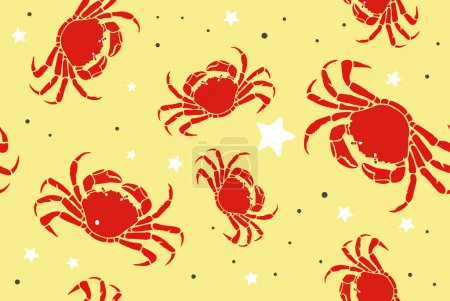 Crabs on Sandy Beach