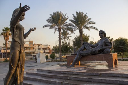 King Shahryar and concubine which tells the stories of his Scheherazade