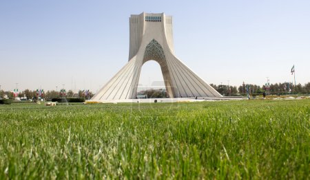 Photo for Azadi Tower, one of the important sights to Iran Which is located in the Iranian capital Tehran And who was a witness to many events Including the Iranian revolution and military parades - Royalty Free Image