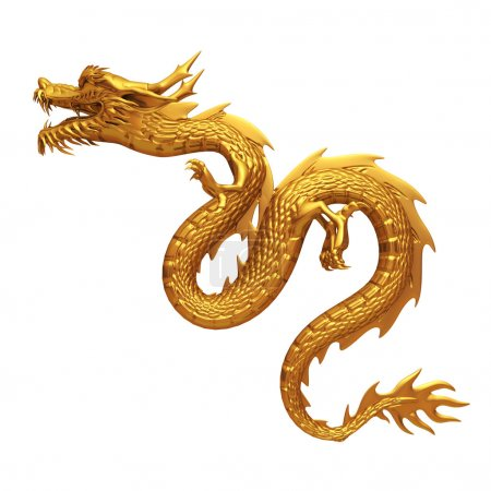 Photo for 3d render golden dragon collection - Royalty Free Image