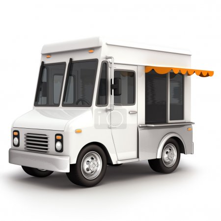 White food truck