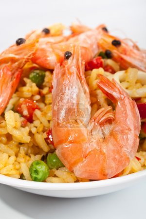 serving of spanish paella