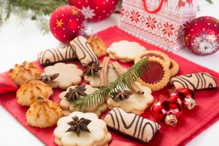 Christmas cookies and decorations