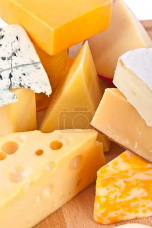 Photo for Various types of cheese composition - Royalty Free Image