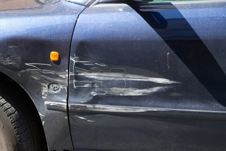 Car with scratches