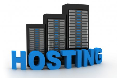 Network servers in data centre isolate on white background