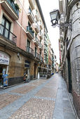 Old street in Bilbao, Basque Country (Spain).