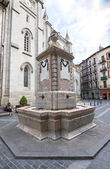 Fountain in front of the Cathedral of Bilbao, Basque Country (Sp