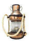 Kerosene lamp isolated on white background.