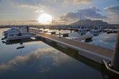 Harbor of Laredo at sunset. Cantabria (Spain).
