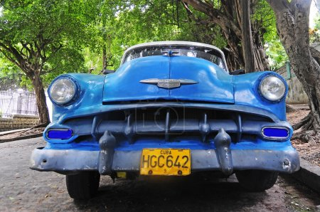 Classic old American car on the streets of Havana