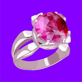 A ring with a stone