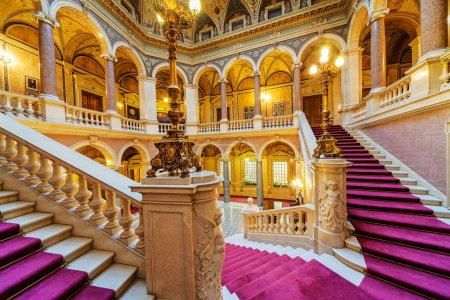 Photo for Interior of classic building with luxury ornamnts - Royalty Free Image