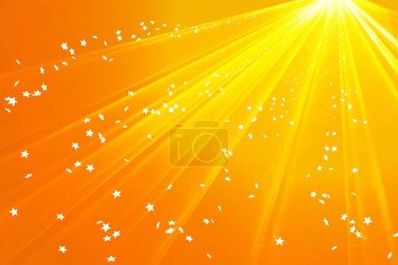 Photo pour Sentier doré des étoiles et des flocons de neige - image libre de droit
