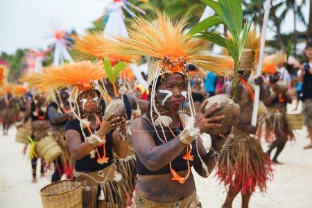 Festival ATI-Atihan on Boracay, Philippines. Is celebrated every