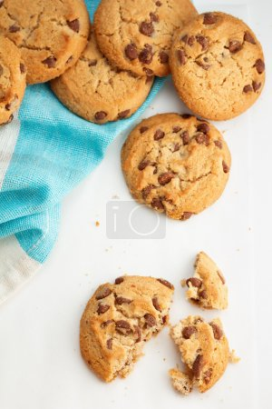 Photo for Several chocolate chip cookies - Royalty Free Image