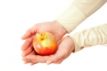 Apple lies in hands