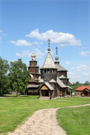 Wooden church,Suzdal, Russia
