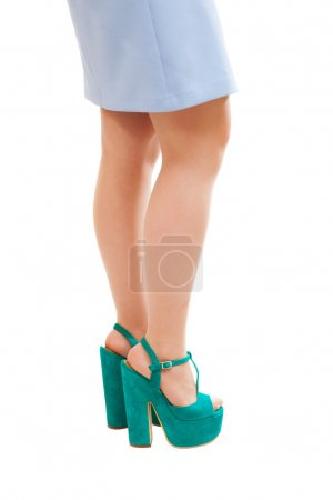 Woman's feet with fashion shoes