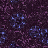 Violet pattern with bird Phoenix and sunflower