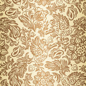 Baroque pattern with birds and flowers gold