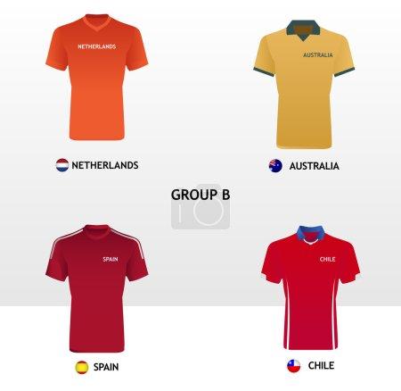 Football Jerseys Group B