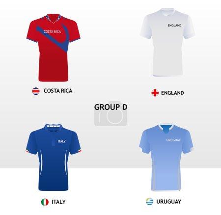 Football Jerseys Group D