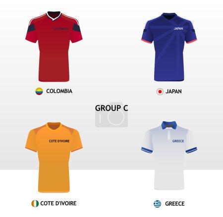 Football Jerseys Group C