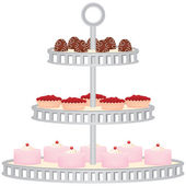 Three Tiered Dessert Stand with Desserts