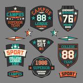 College sport emblem