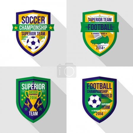 Soccer  world championship  emblem Superior team