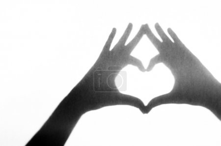 Photo for Heart shape hands - Royalty Free Image